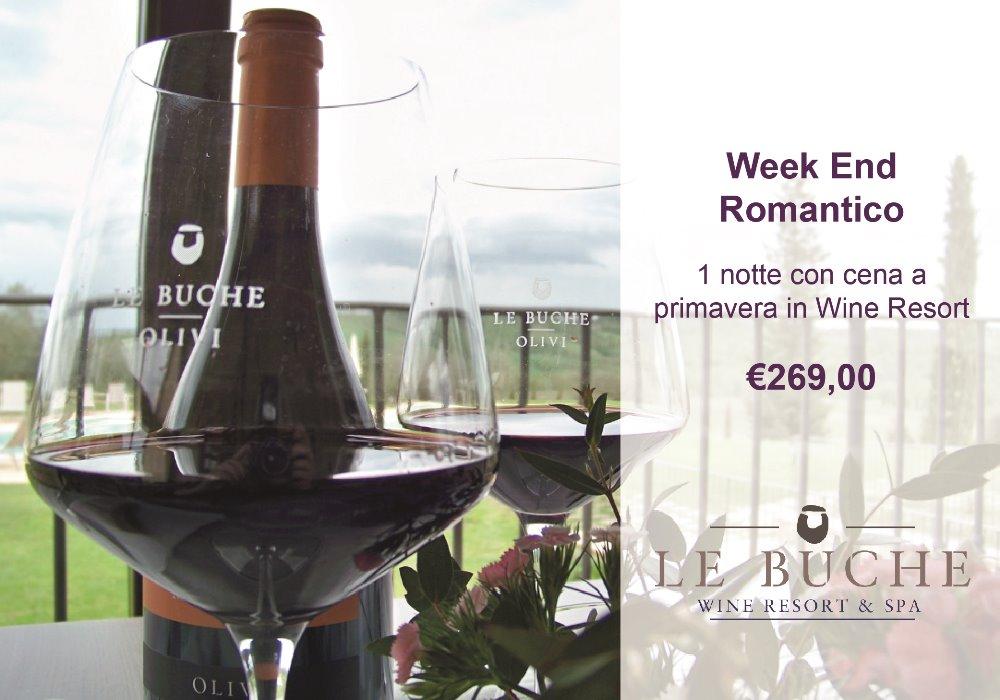 Week End Romantico 1 notte con cena a primavera in Wine Resort